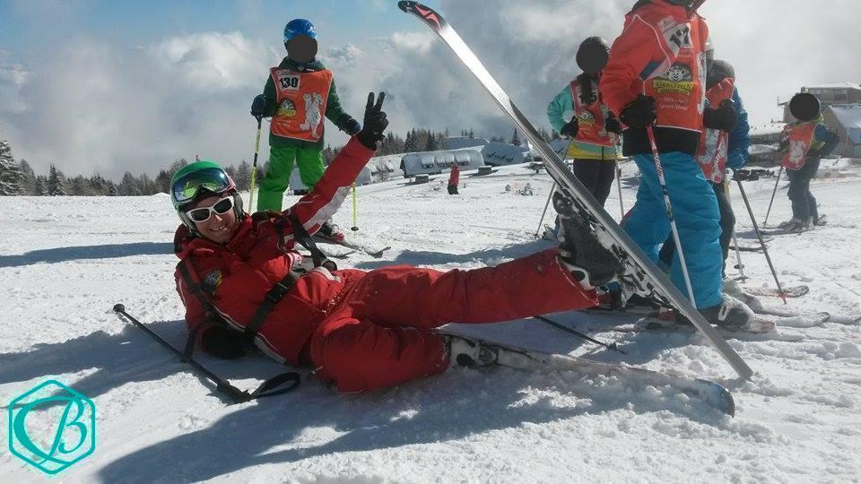 Lächeln Glück Winter Skifahren