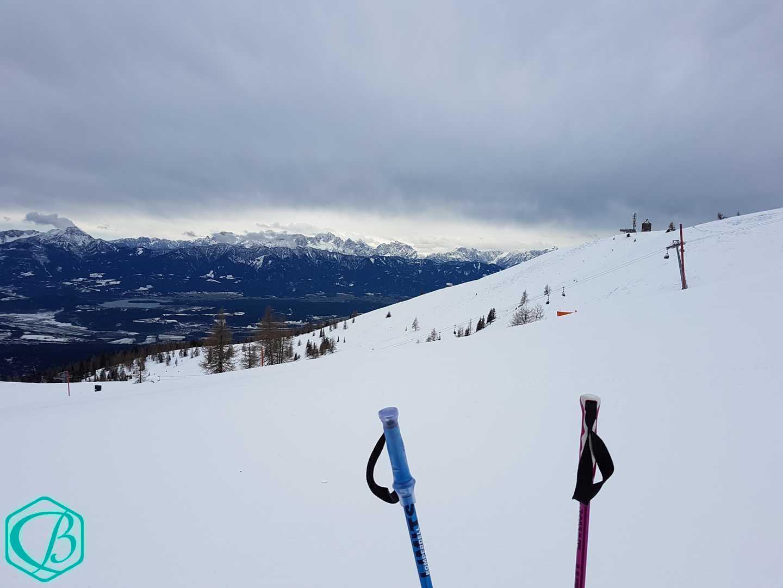 Winter Berg Skifahren Skilehrerleben