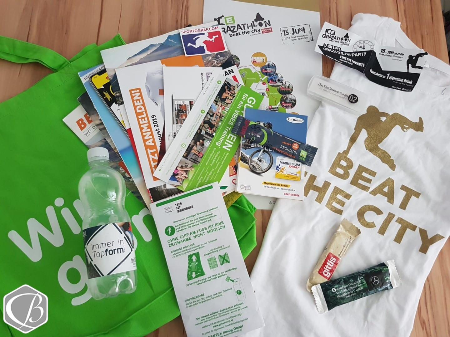 Goodie Bag Grazathlon 2019 Hindernislauf Obstacle Cours Racing Obstacle Run