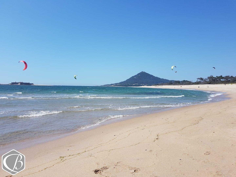 Portugal Moledo Fitnessreise Sporteventwoche Traumkulisse Strand Meer Wind