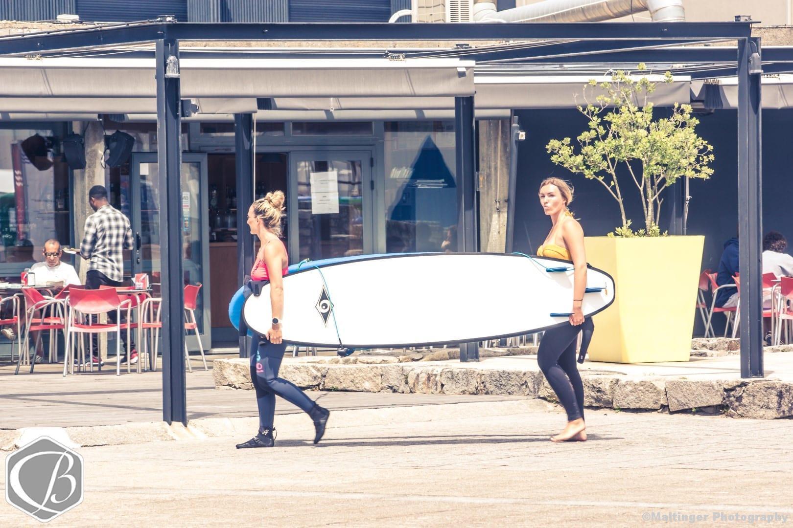 Portugal Moledo Fitnessresie Surfen Wellenreiten