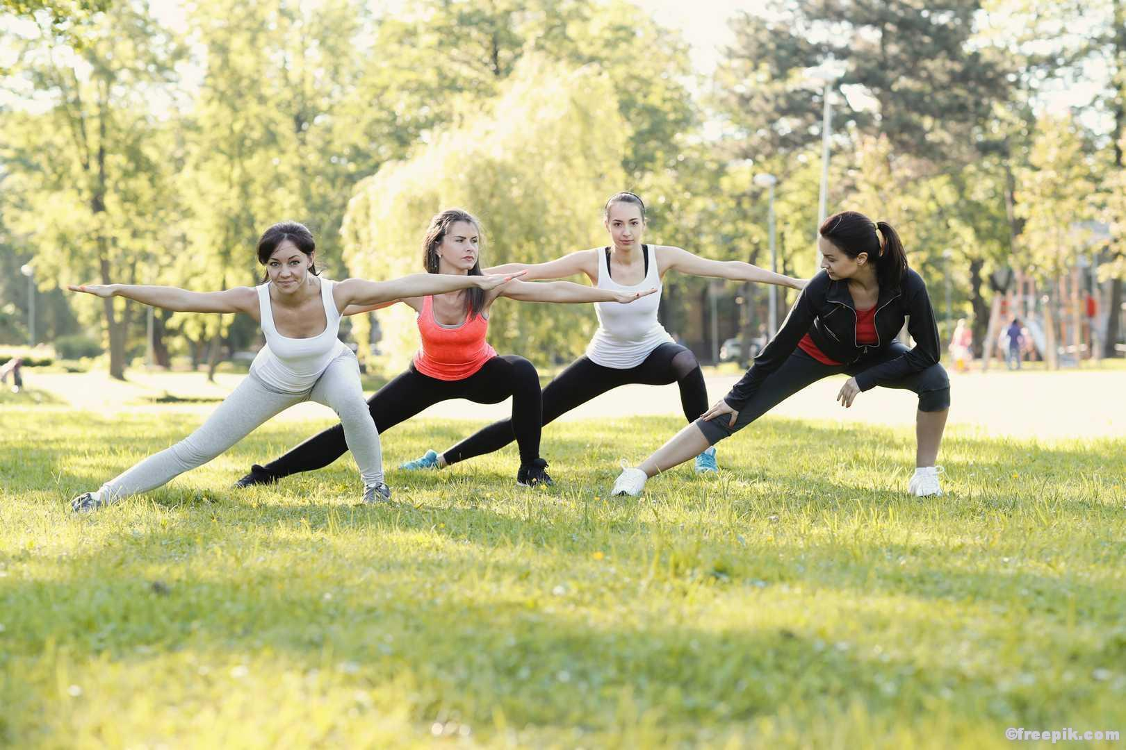 Outdoor Fitness Gruppe Sport