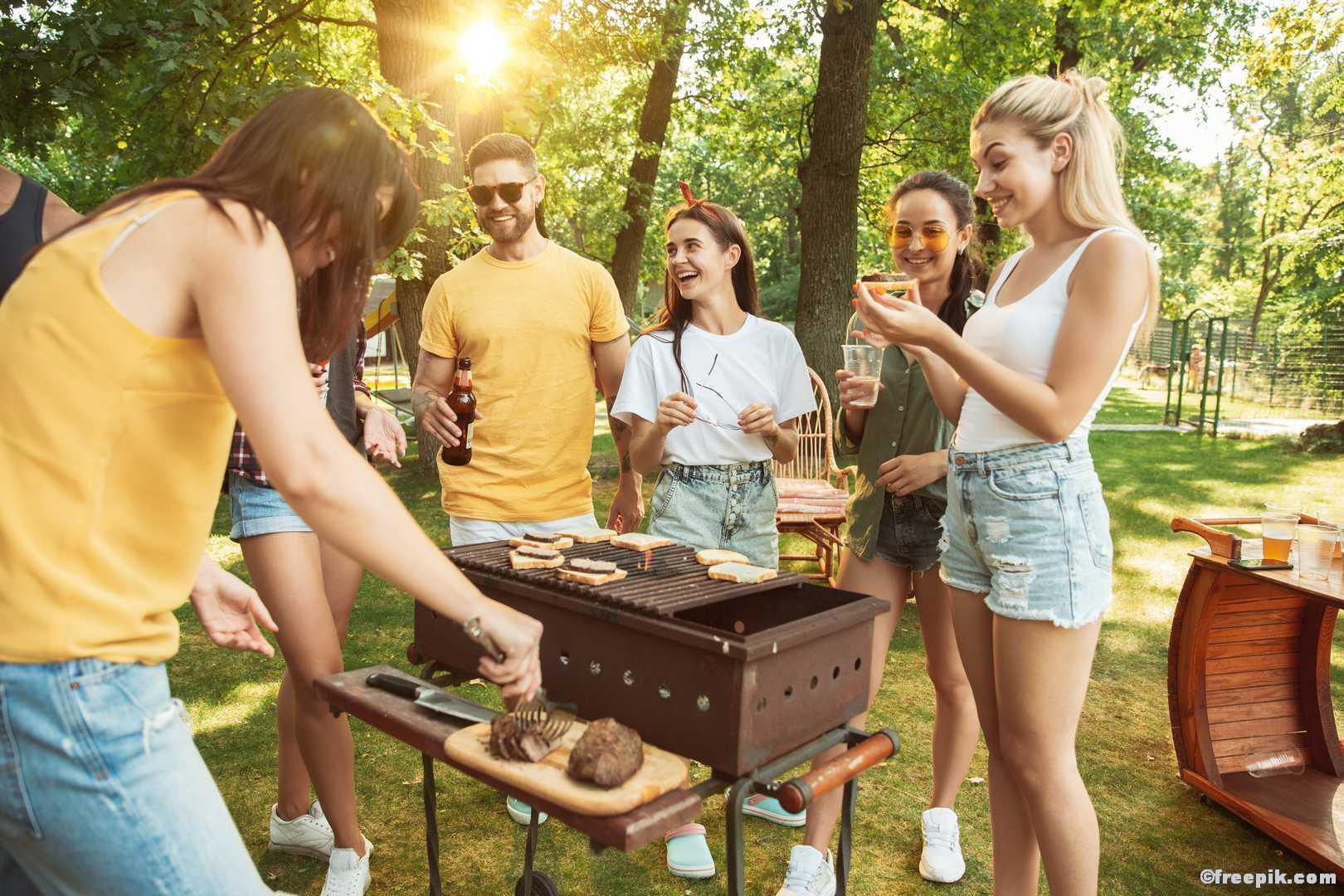 Freunde Grillen Party Sonne