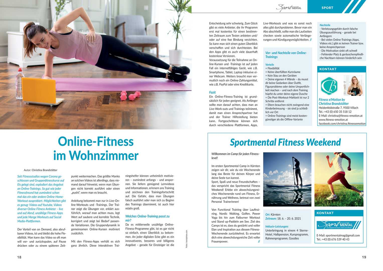 Online-Fitness Artikel Sportmental-Magazin
