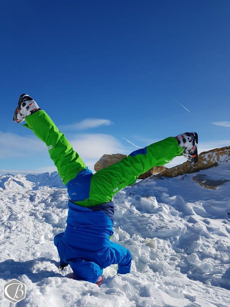 Winterlove Skifahren Mölltaler Gletscher Kopfstand