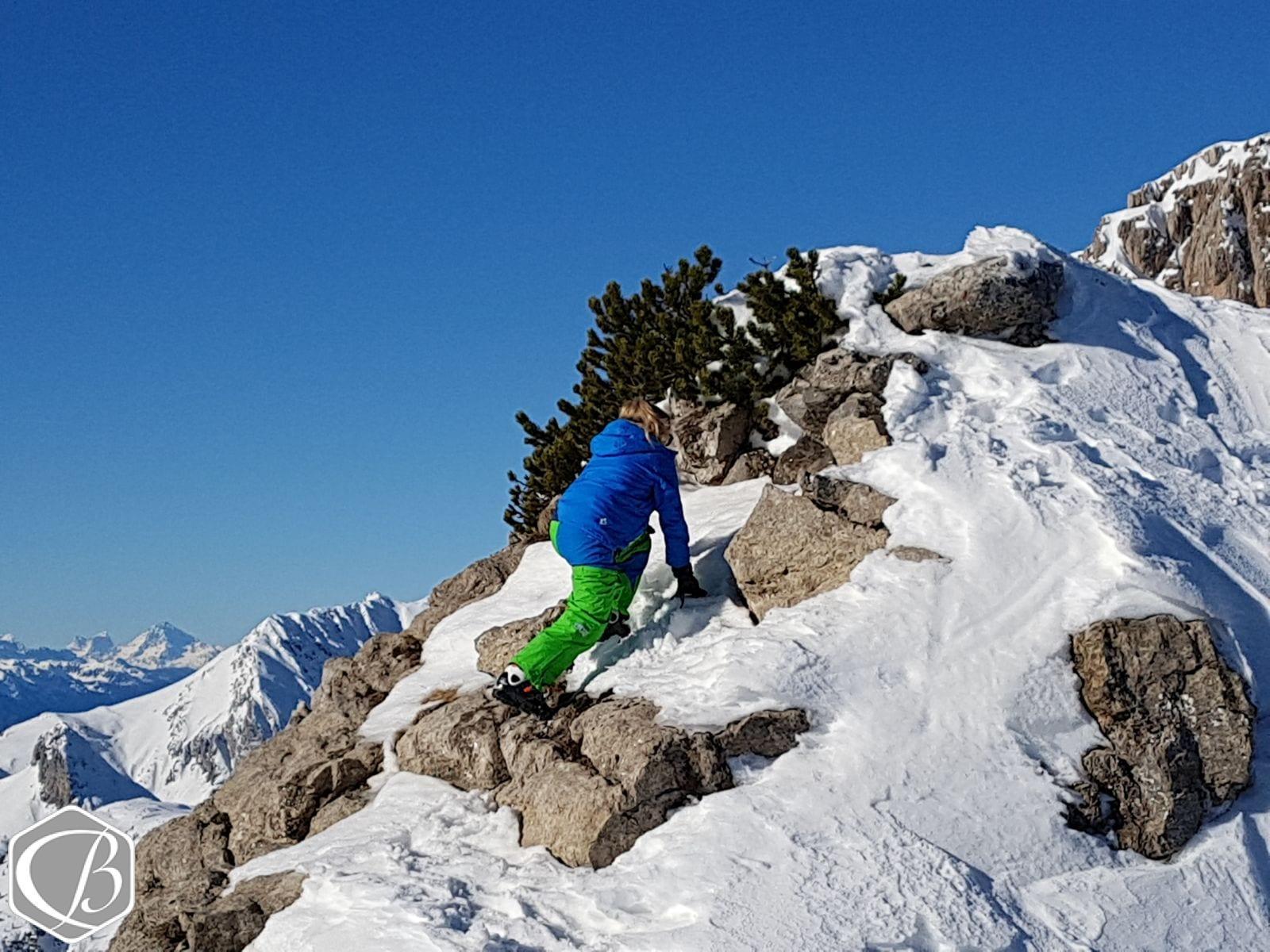 Klettermaxi Nassfeld Ski Skifahren Berg Winter