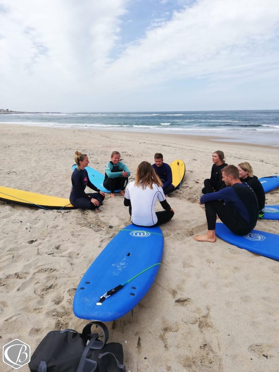 Portugal Moledo Fitnessreise Surfen Wellenreiten Meer Sonne