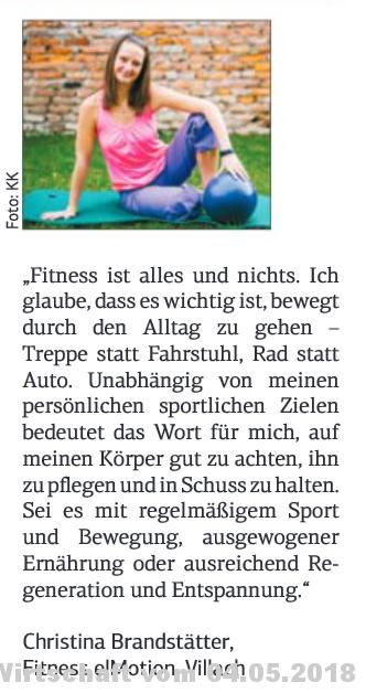 Kärntner Wirtschaft - Fitness e!Motion