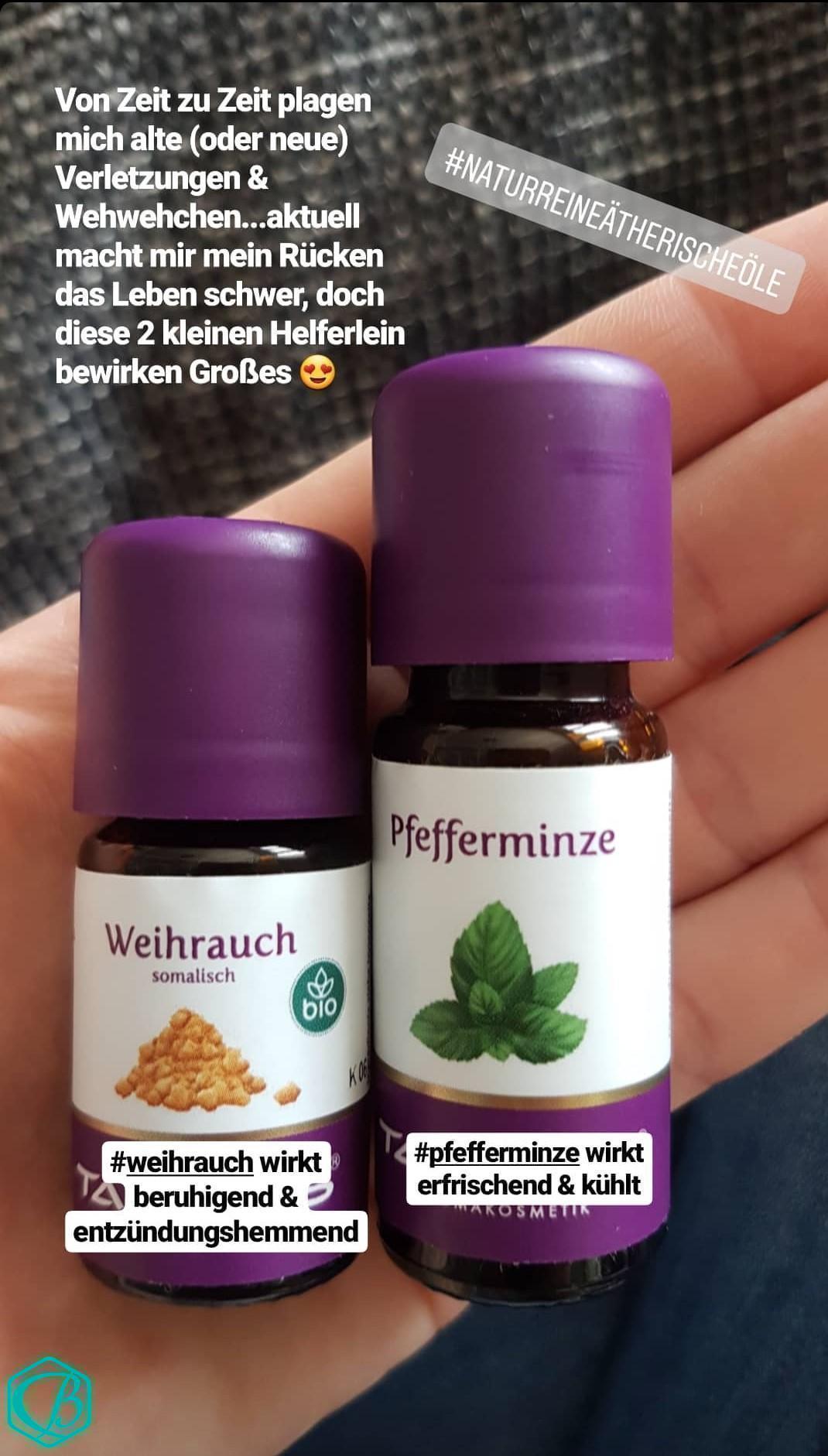 ätherische Öle Pfefferminze Weihrauch