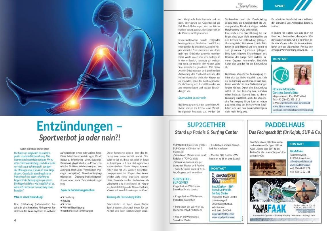 Entzündungen: Sportverbot ja oder nein? - Sportmental Magazin / Fitness e!Motion