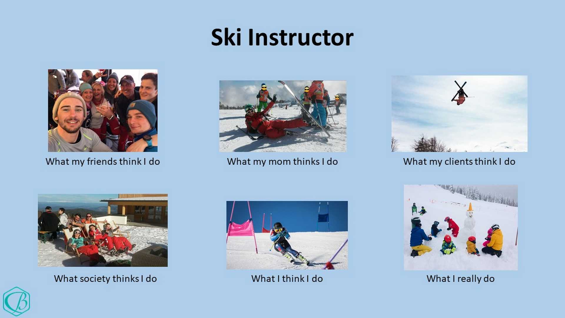 Skilehrer Skiinstructor Skiinstructorlife Winter Skifahren