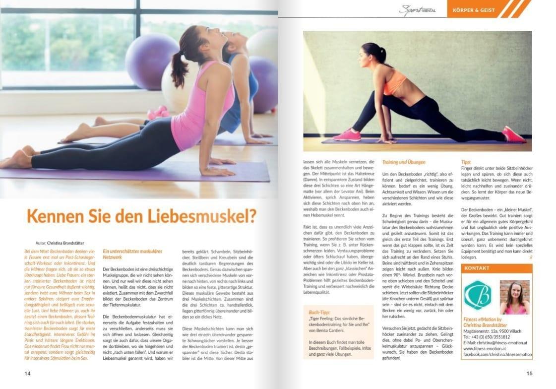 Sportmental Magazin Liebesmuskel Beckenboden