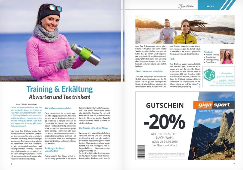 Training & Erkältung - Sportmental Magazin / Fitness e!Motion