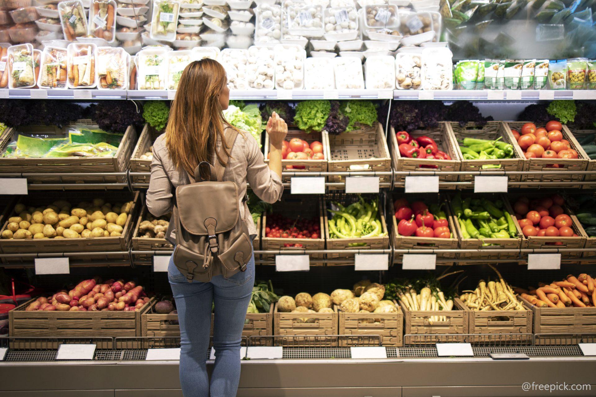 gesunde Ernährung, Gemüse, Obst, Einkaufen, Lebensmittel