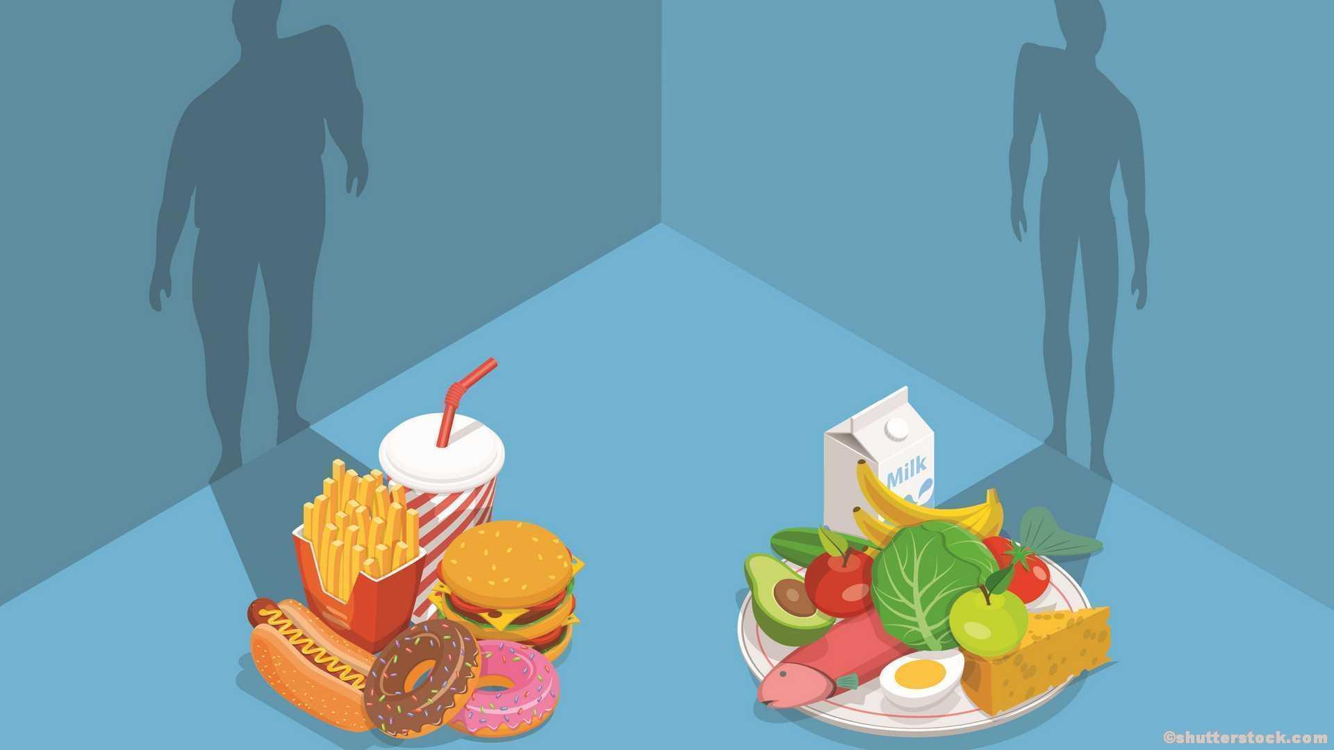 Grundumsatz Leistungsumsatz gesundes vs. ungesundes Essen