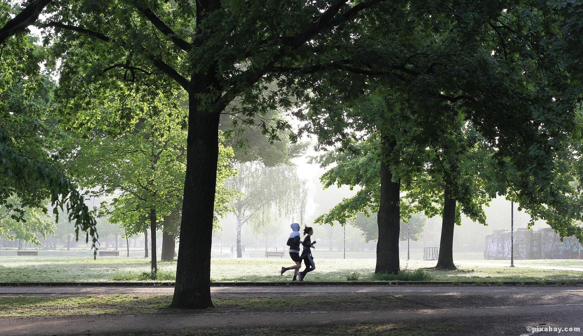Outdoortraining Laufen Beckenboden Jogging